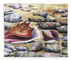 Treasures Of The Sea Fleece Blanket