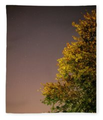 Tree And Stars Fleece Blanket
