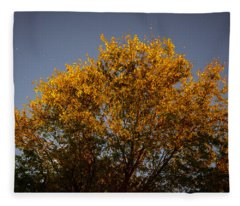 Tree And Stars Wide Fleece Blanket
