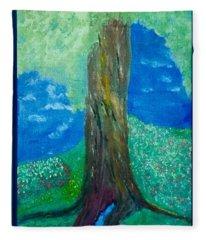 Tree Fountain Fleece Blanket
