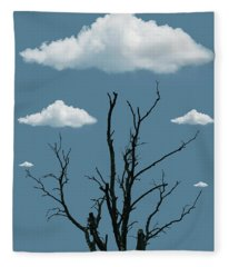 Tree In The Clouds Fleece Blanket