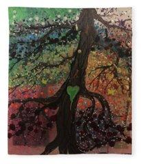 Tree Of Life Chakra Tree Fleece Blanket