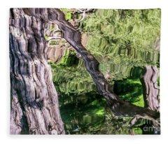 Tree Reflected Fleece Blanket