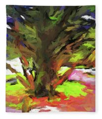 Tree With The Open Arms Fleece Blanket
