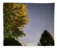 Trees And Stars Fleece Blanket
