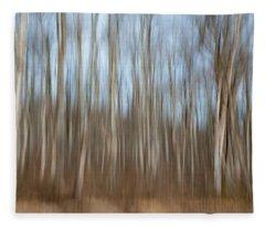 Trees In The Forest Fleece Blanket
