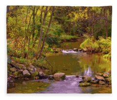 Trexler Park Stream Fleece Blanket