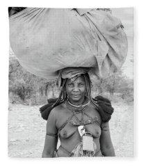 Tribes Portrait Fleece Blanket