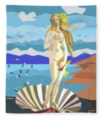 tribute to Botticelli Fleece Blanket