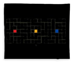 Tricolor In Black Fleece Blanket