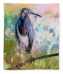 Tricolored Heron Fleece Blanket
