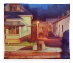 Trinidad Commercial Street Fleece Blanket