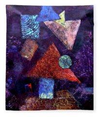 Trio Triangles  Fleece Blanket