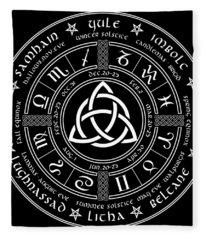 Triquetra Pagan Wheel Of The Year Fleece Blanket