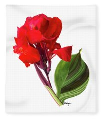 Tropical Bouquet-flower Three Fleece Blanket