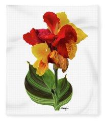 Tropical Bouquet-flower Two Fleece Blanket