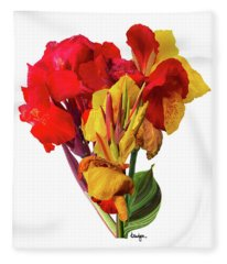 Tropical Bouquet Fleece Blanket