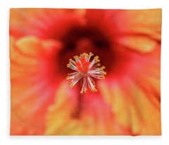 Tropical Hibiscus  Fleece Blanket