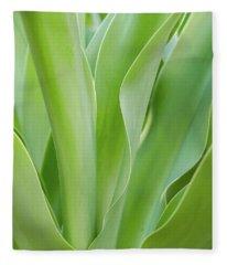 Tropical Leaf Fleece Blanket