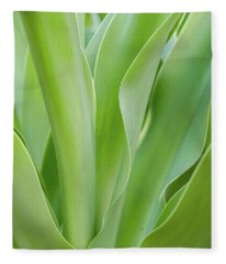 Tropical Leaf Fleece Blanket
