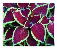 Tropical Leaves Fleece Blanket