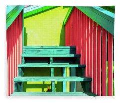 Tropical Steps And Rails Fleece Blanket