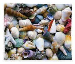 Tropical Treasure Seashells A91218 Fleece Blanket