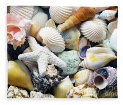 Tropical Treasure Seashells B91218 Fleece Blanket