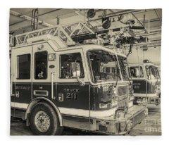 Truck And Engine 211 Fleece Blanket