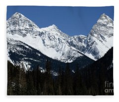 True North Strong And Free Fleece Blanket