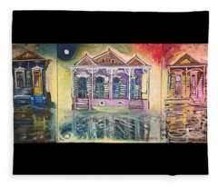 Tryptic On The Bayou New Orleans Fleece Blanket