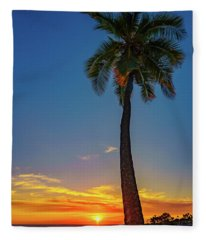 Tuesday 13th Sunset Fleece Blanket