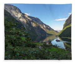 Tufte, Naerofjord, Norway Fleece Blanket