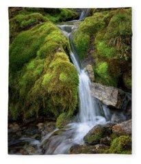 Tufteelvi, Norway Fleece Blanket
