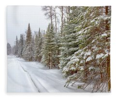 Tug Hill Pines Fleece Blanket