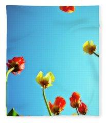 Tulips Holland Michigan 16 Fleece Blanket
