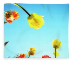 Tulips Holland Michigan 17 Fleece Blanket
