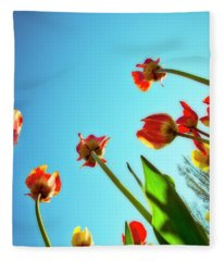 Tulips Holland Michigan 913 Fleece Blanket