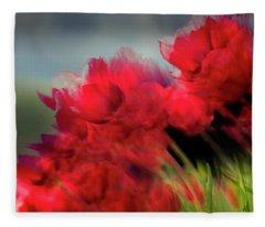 Tulips In The Wind Fleece Blanket