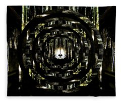Tunnel Icicles Reflection Circles Fleece Blanket