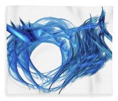 Tunnel Vision Dark Blue Fleece Blanket