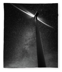 Turbine Nights Fleece Blanket