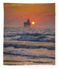 Turbulent Solitude Fleece Blanket
