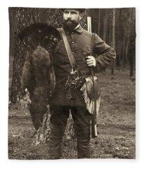 European Hunter - Thanksgiving Dinner  Fleece Blanket
