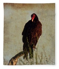 Fleece Blanket featuring the photograph Turkey Vulture Vintage by Judy Kennedy