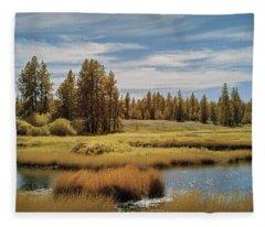 Turnbull State Park  Fleece Blanket
