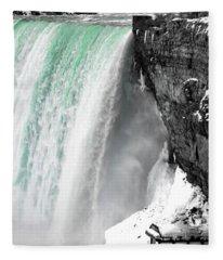 Turquoise Falls Fleece Blanket