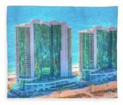 Turquoise Place Fleece Blanket