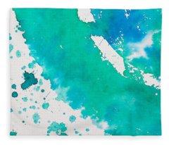 Turquoise Ring Fleece Blanket