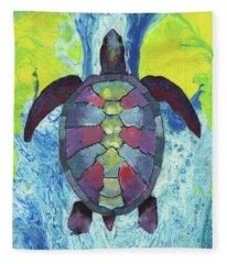 Turtle Way Fleece Blanket